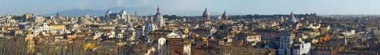 Каталог изображений для скинали панорама Рима.