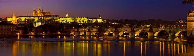 Фартук для кухни скинали ночная Прага.