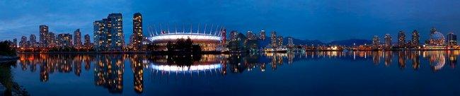 Фартук для кухни скинали Ванкувер город в Канаде.