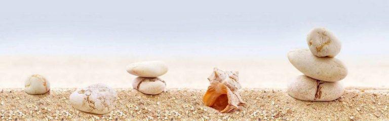 Скинали для кухни изображение ракушка на песке