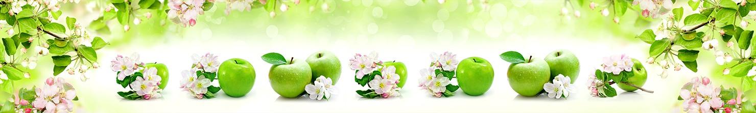 Скинали Яблоки и Цветы Яблони на Кухонный Фартук. 500832