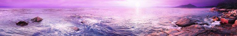 Каталог изображений для скинали фиолетовое море.