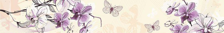 Каталог изображений для скинали орхидея.