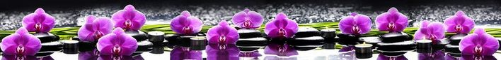 Фартук для кухни скинали Орхидея.