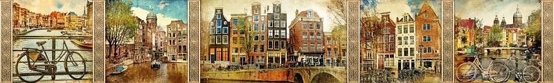 Фартук для кухни скинали Нидерланды.
