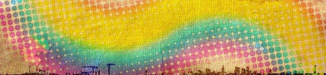 Каталог изображений для скинали радуга над городом.