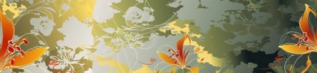 Каталог изображений для скинали абстрактные лилии.