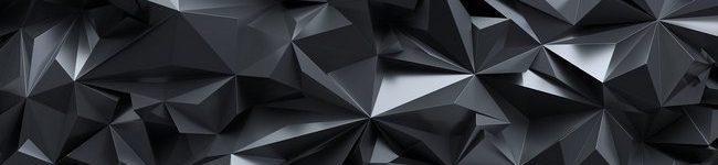 Фартук для кухни скинали черный кристалл.