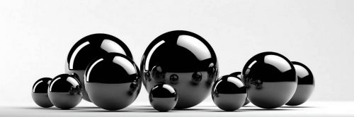 Каталог изображений для скинали черные шары.