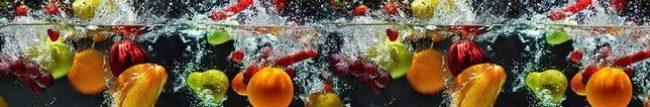 Кухонный фартук фрукты в воде каталог изображений