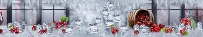 Кухонный фартук вишня и лёд каталог изображений