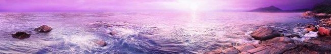 Фартук для кухни скинали фиолетовое море.