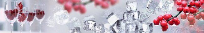 Кухонный фартук лёд и рябина каталог изображений