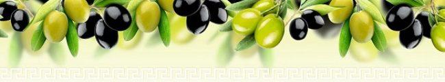Фартук для кухни скинали оливки и маслины.